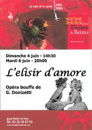 Programme de Salle : Elisir d'amore (L'). 2005/2006 |