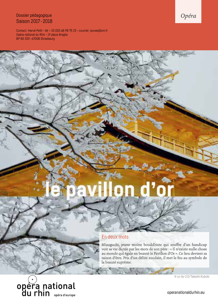 Le Pavillon d'Or. 2017/2018, Opéra national du Rhin |