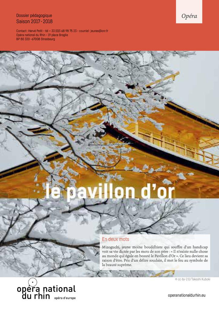 Le Pavillon d'Or. 2017/2018, Opéra national du Rhin |