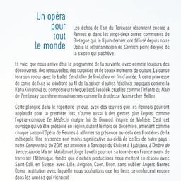 Opéra de Rennes - Brochure de Saison . 2017/2018, Opéra de Rennes  |