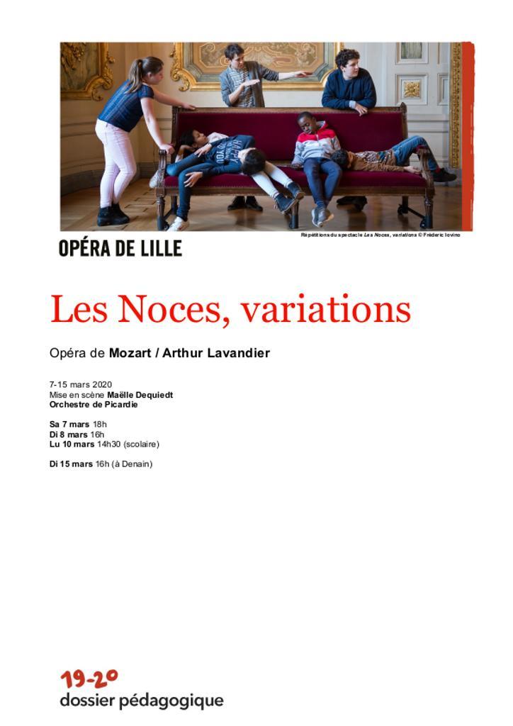 Dossier pédagogique : Les Noces, variations. 2019/2020, Opéra de Lille |