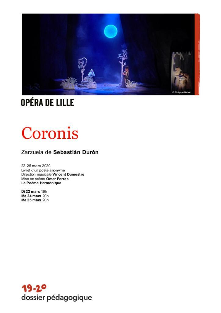 Dossier pédagogique : Coronis. 2019/2020, Opéra de Lille |