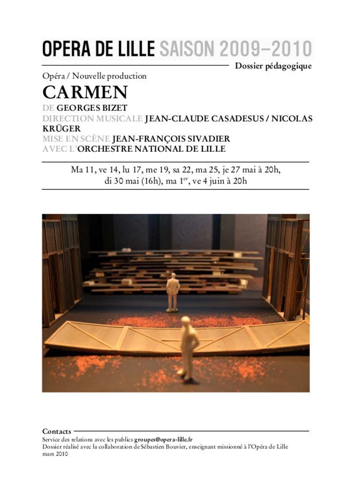 Dossier pédagogique : Carmen |