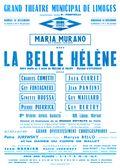 Affiche : Belle Hélène (La). 1964/1965, Opéra Théâtre de Limoges |