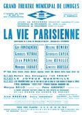 Affiche : Vie parisienne (La). 1964/1965, Opéra Théâtre de Limoges |