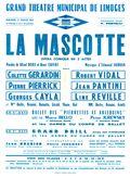 Affiche : Mascotte (La). 1964/1965, Opéra Théâtre de Limoges |