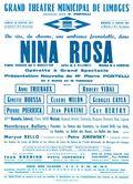 Affiche : Nina Rosa. 1964/1965, Opéra Théâtre de Limoges |