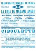 Affiche : Fille de Madame Angot (La). 1964/1965, Opéra Théâtre de Limoges |