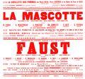 Affiche : Mascotte (La). 1965/1966, Opéra Théâtre de Limoges |