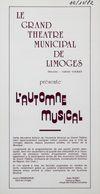 Programme de Salle : Pelléas et Mélisande. 1982/1983, Opéra Théâtre de Limoges |
